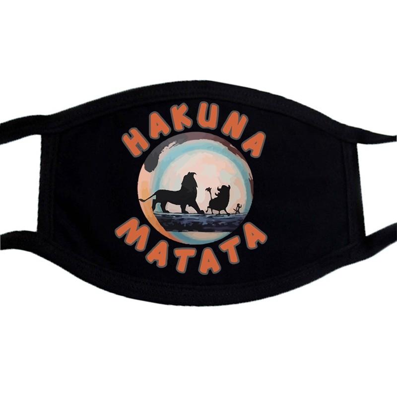 The Lion Kings Cartoon Hip Hop Mouth-Muffle Masks Unisex Washable Harajuku Face Mask Dust Proof Black Keep Warm Harajuku Mask