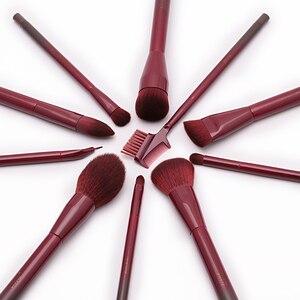Image 3 - Jessup Brushes Winered 15pcs Makeup Brushes Set Powder Foundation Eyeshadow Eyeliner Lip Contour Concealer  T251