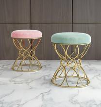 Nordic makeup stool bedroom nail shop princess chair makeup chairs modern minimalist iron gold dressing stool chairs