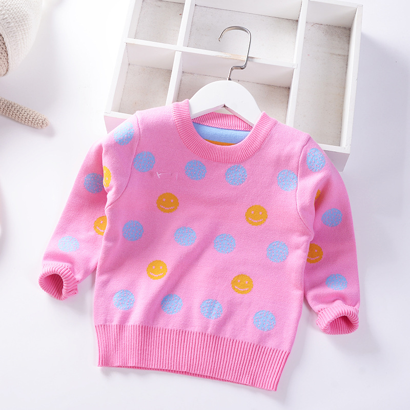 Kids' Sweater Autumn And Winter New Style Girls Pullover Sweater Crew Neck Sweater GIRL'S Children Baby Base Shirt