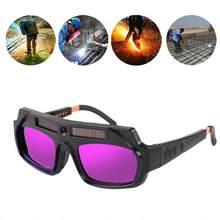 1 pçs automático escurecimento óculos de soldagem anti-reflexo óculos de soldagem arco argônio óculos u2j4