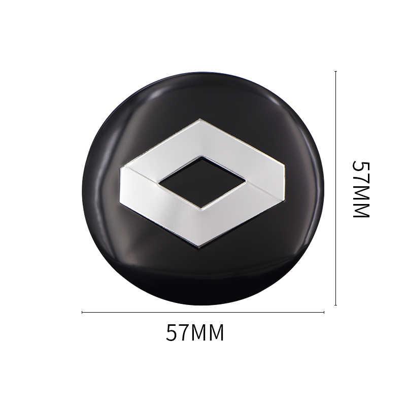 4 pièces 56.5M Aluminium Logo voiture roue moyeu capuchon central autocollant pour LADA BMW AUDI mercedes-benz toyota lada ford opel Renault Mazda