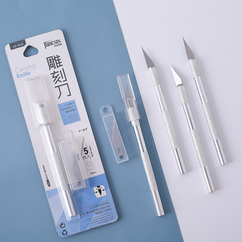 Office Supplies Engraving Knife For Rubber Stamp Carving Pen Sharpener Diy Carving Knife Photo Cutter