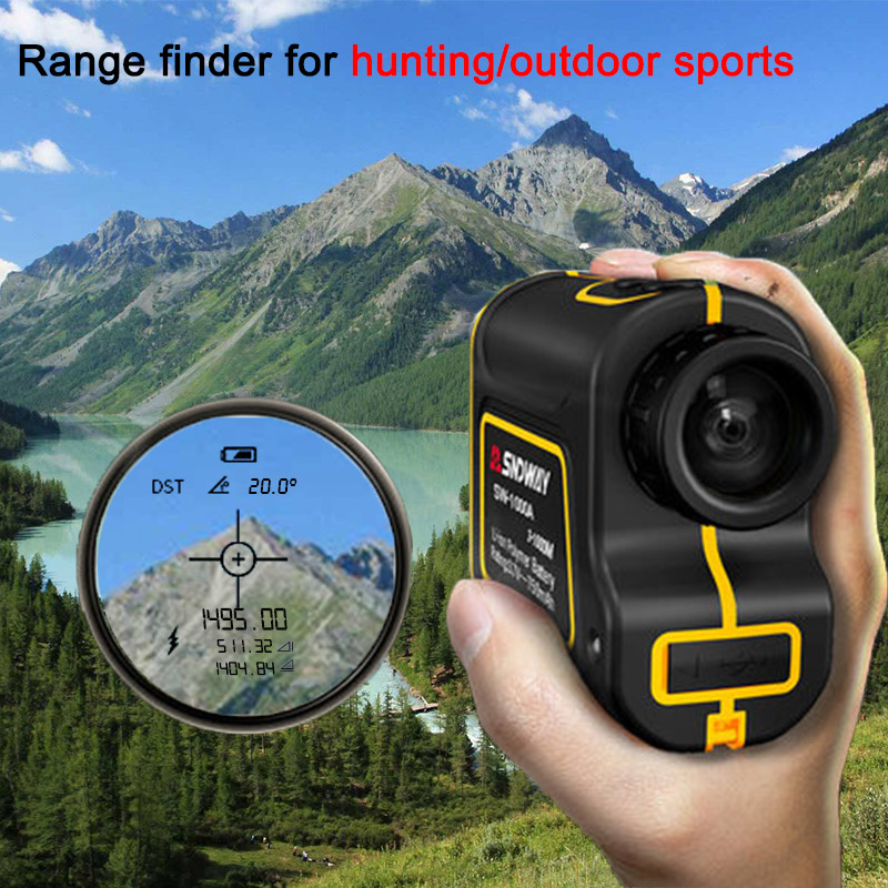 Tools : Sndway new launch Laser rangefinder 6x Telescope laser distance meter 1000m 1500m range finder for hunting golf sport engineer