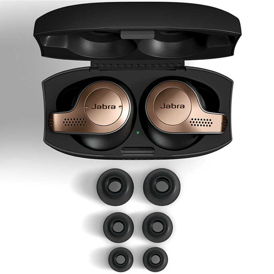 Jabra エリート 65t 真のワイヤレスイヤホン tws bluetooth 5.0 ヘッドホンスポーツイヤフォンノイズキャンセル防水ヘッドセットとマイク