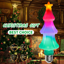 LED Flame Effect Bulb E27 Colour Lamp E26 RGB Fire Lights Flickering Emulation Christmas Decorations For Home