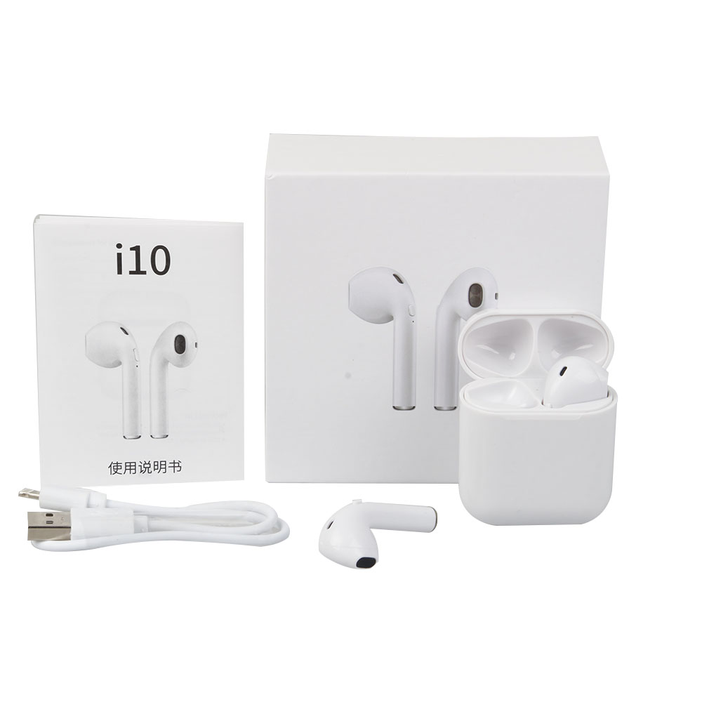 New i10 tws Wireless i10tws earbuds headphones Earpiece mini Bluetooth headsets earphone for all phones
