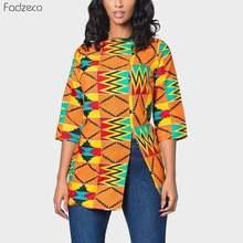 Fadzeco африканская женская одежда Дашики Топы Половина рукава