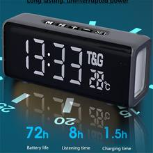 TWS Bluetooth Speaker HI-FI Portable Column Wireless Bluetooth Column Clock Alarm Speakers Music Center Sound Box TF Radio Udisk(China)