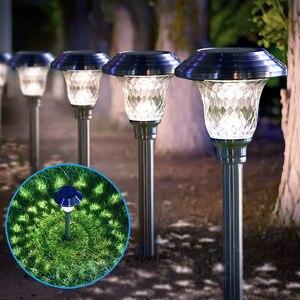 Светодиодный садовый светильник на солнечной батарее, уличный фонарь с питанием от аккумулятора, водонепроницаемый уличный фонарь для пат...