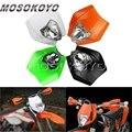 Оранжевого и белого цветов в стиле хип черный фары для мотокросса Dirt Bike Enduro налобный фонарь для XC-W EXC XCF SX 125 250 350 450