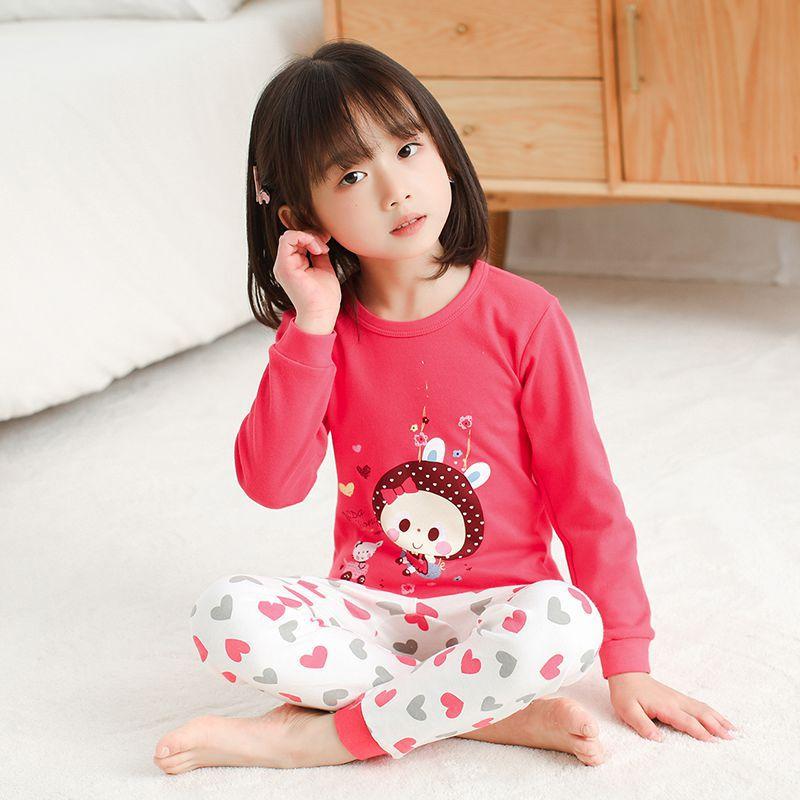 Kids Pajamas Children Sleepwear Rabbit Boys Girls Pajamas Set Cotton Kids Clothes Nightwear Toddler Animal Pyjamas Baby Pijamas 5