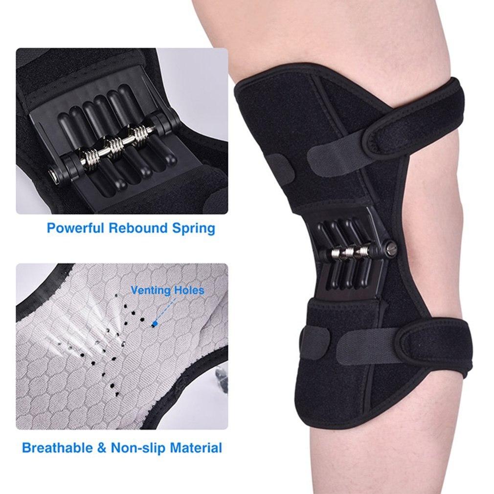 Apoio de joelho com apoio articulado, reforço de joelho agachamento, força esportiva, reforço de joelho para corrida, primavera