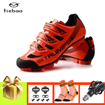 Tiebao cycling shoes men women SPD pedals mountain bike sneakers sapatilha ciclismo mtb breathable pro riding bicycle mtb shoes