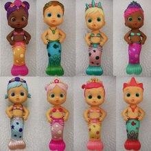Cry dolls sereias banho squirt boneca max/sweety/adorável/luna/ensolarado/flowy crianças brinquedos melhores presentes