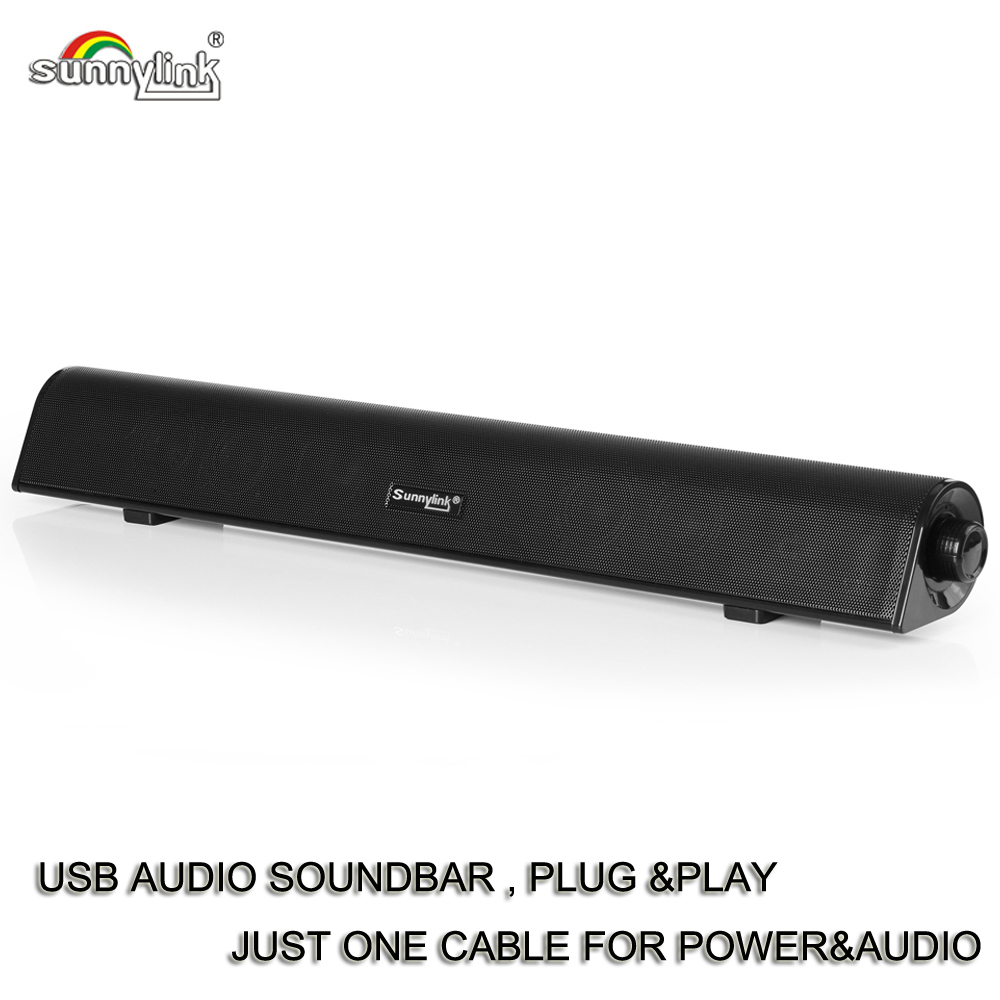 POTENTE USB MINI SOUNDBAR/BAR SUONO, HIFI USB ALIMENTATO SOUNDBAR ALTOPARLANTE PER COMPUTER/PC/LAPTOP/TABLET/PICCOLA TV, ECC