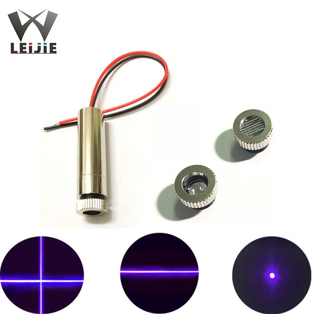 Лазерный модуль высокой мощности с фокусом сине-фиолетовый перекрестный/линейный/точечный Синий 200 нм МВт 12x45 мм 3-5 В