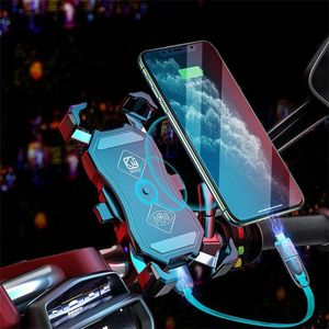 Image 5 - 12V Motorcycle QC3.0 USB Qi Wireless Charger Mount Holder Stand for Cellphone