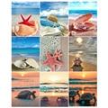 5D DIY Diamond Painting Beach Landscape Full Square/Round Drill Cross Stitch Kits starfish shell Mosaic Stickers Home Decoration