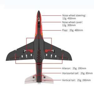 Image 5 - HSD RC 1.6M Jet 105MM EDF סופר צפע V4 12S 160A מטוס PNP דגם הידראולי TH06108