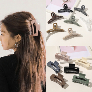 1Pcs Acrylic Hairpins Cross Transparent Large Size Geometric Square Hollow Hair Claws Vintage Hair Clips Women Hair Accessories