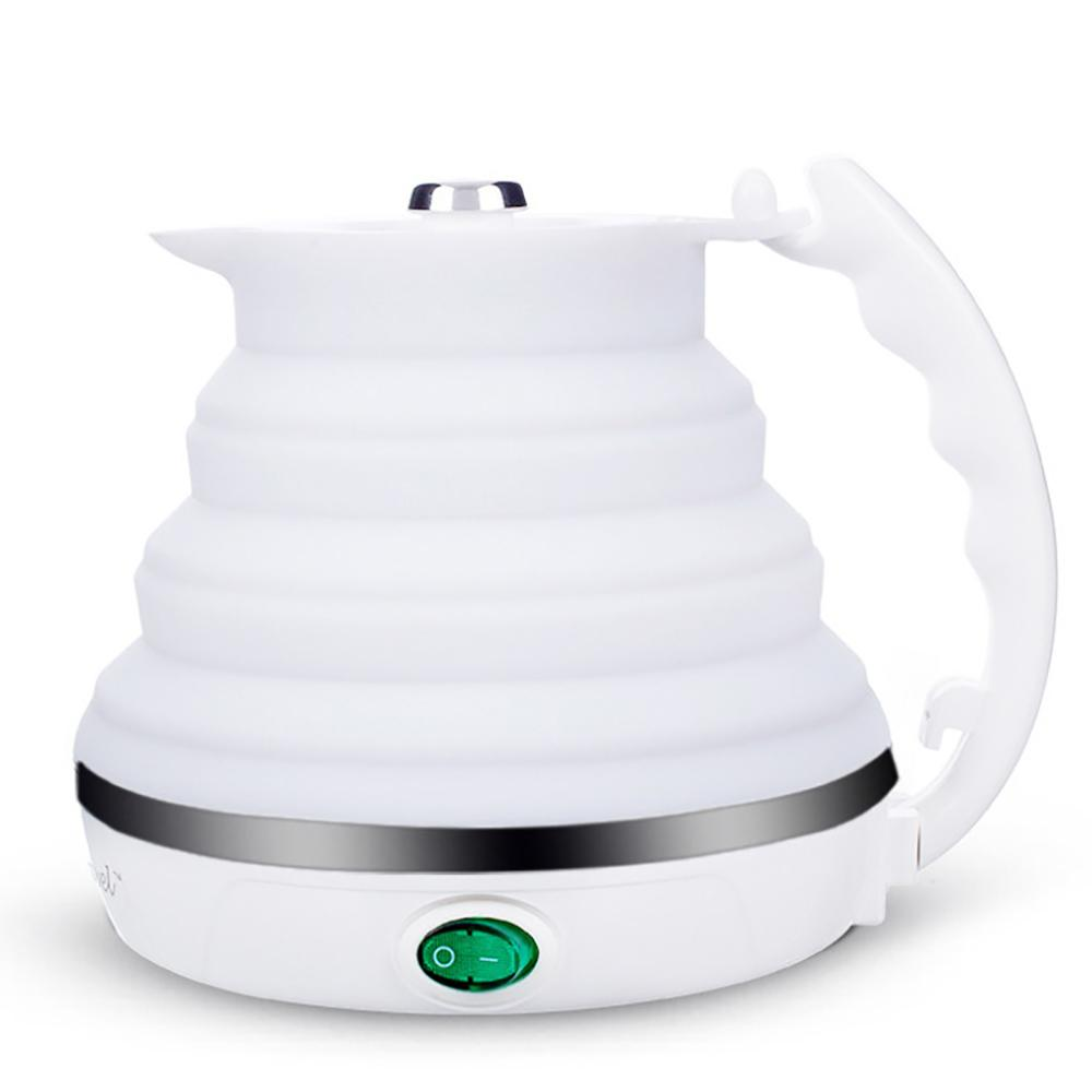 550ml Electric Kettle Silicone Foldable Portable Travel Camping Water Boiler Adjustable Voltage Home Electric Appliances