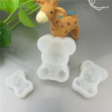 Food Grade Silicone Bears Cake Mold Resin Soap Mold Cupcake Fondant Cake Decorating Tools Gumpaste Chocolate Moulds(China)