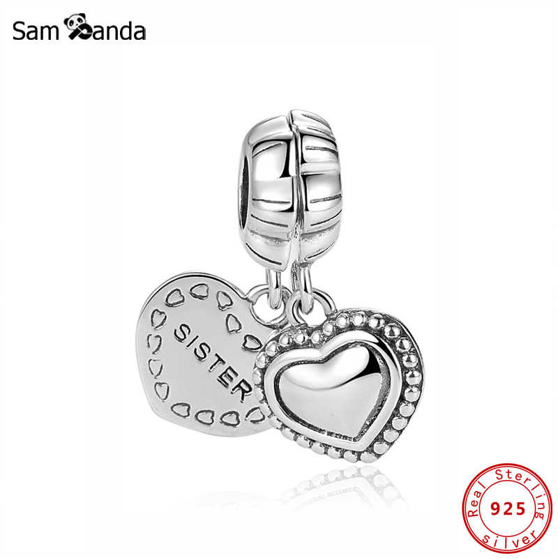Authentic Original 100 925 Sterling Silver Charm Bead My Special Sister Two Part Charms Fit Bracelets Diy Women Jewelry Silver Charms Beads Charm Beadsfit Pandora Bracelet Aliexpress
