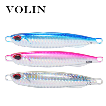 VOLIN NEW Hard Bait Slow Jigging Lead Lure 30g 40g 50g 60g Saltwater Metal Fishing  Artificial Casting Tackle