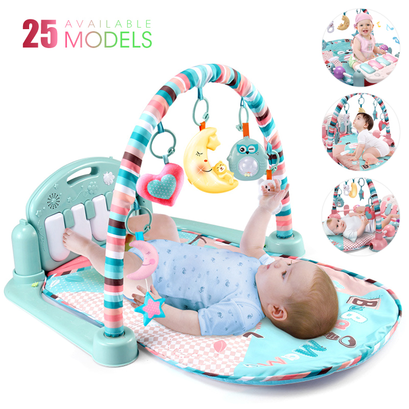 25 Styles Play Mat With Piano Keyboard Baby Carpet Music Puzzles Mat Educational Rack Toys Infant Crawling Mat Gift For Kids Gym