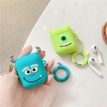 3D Cute Cartoon Monsters University Mike Sullivan Lovely Minnie Mickey Mouse Cover Cases For Apple Bluetooth Headset Airpods 1/2(China)