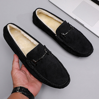 New Leather Loafer Men Moccasins Fashion Suede Shoes for Men Luxury Designer Brand Fomal Shoe 2021 Italian Comfort Shoes Winter 1