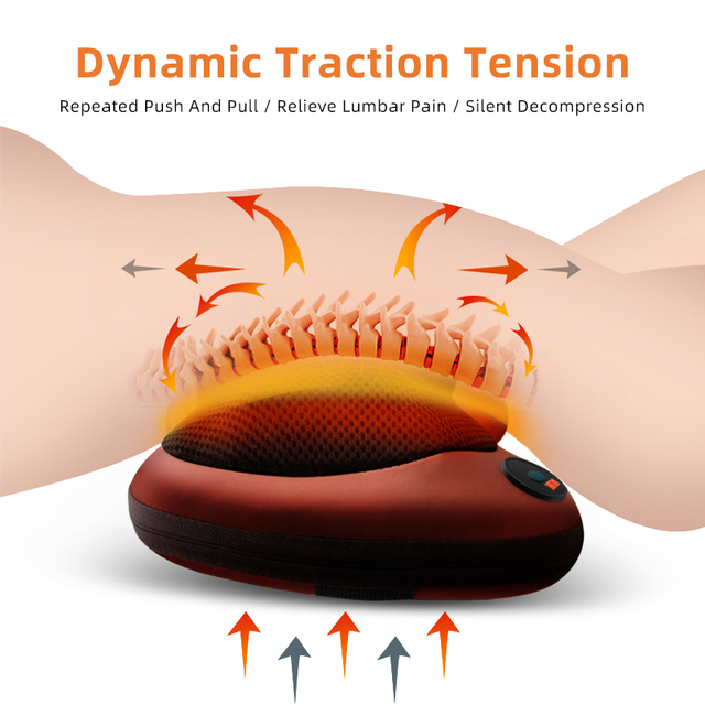 Electric Massage Pillow Vibrator Relaxation Shoulder Neck Back Body Heating Kneading Infrared Therapy for Shiatsu Neck Massager 1