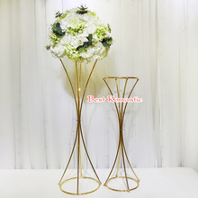 Lead Vases Flower-Stands Wedding-Centerpiece Party-Decoration Metal Event for 10pcs/Lot