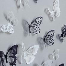 Autocollants muraux papillons en cristal 3D, 36 pièces, créatifs, avec diamant, décoration pour la maison, pour chambre d'enfants, Art