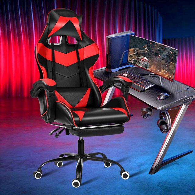 Leather Office Gaming Chair Home Internet Cafe Racing Chair WCG Gaming Ergonomic Computer Chair Swivel Lifting Lying Gamer Chair 2