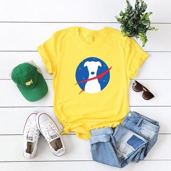 Cartoon Dog Print Tops Women Tshirt Funny T Shirts Graphic Tees Plus Size Women Short Sleeve Casual T Shirt Streetwear