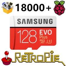 RetroPie SD Karte 128GB Für Raspberry Pi 3 B + 18000 + Spiele 30 + Sytems Diyable Emulation Station spiele Werksdaten Plug & Play
