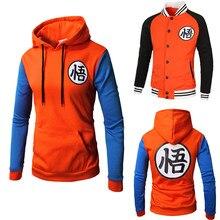 Traje kakarotto son goku hoodie cosplay personagens chineses wu impressão sweatshirts masculino casual camisola com capuz