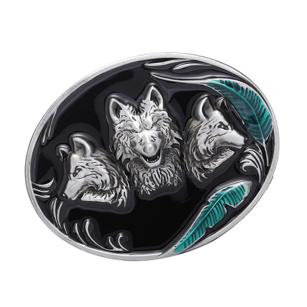 BRAND NEW HOWLING WOLF COWBOY 3-D WESTERN BELT BUCKLE!