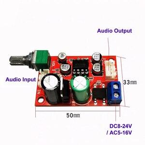 Image 2 - NE5532 Preamplifier Board Audio Preamp Pre amplifier Servo Power DC8 24V AC5 16V
