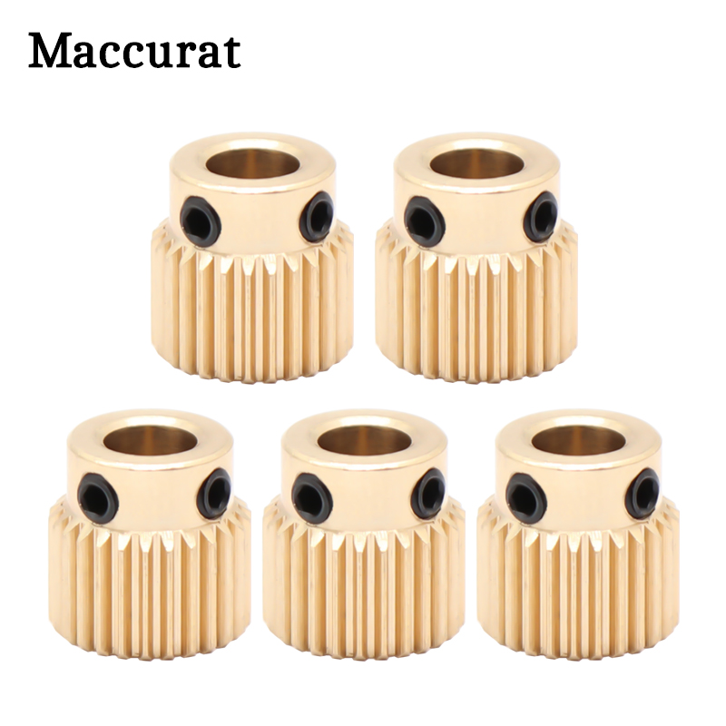 Creality CR-10 Ender-3 3D Printer Extrusion Wheel Brass gear wheel 40 Tooth Gear for CREALITY 3D Printer Extruder filament