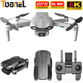 2021 New M9968 Drone 5G GPS WIFI 6K HD Mini Camera Profesional Brushless Motor Flight 30 mins 1200 Meters Distance RC Helicopter
