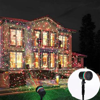 Ruchomy pełny gwieździste niebo projektor laserowy oświetlenie krajobrazu czerwony i zielony Christmas Party oświetlenie sceniczne LED ogrodowa lampa laserowa tanie i dobre opinie ZUCZUG CN (pochodzenie) Stage lighting effect Dmx etap światła 13 w projector 240 v Domowej rozrywki led light lamp laser projector lamp