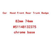 10 pçs 82mm 74mm chrome prata base frente/traseiro boot emblemas capô tronco emblema logotipo e46 e39 e38 e90 e60 z3 z4 x3 x5 x6 51148132375