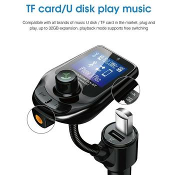 Car Bluetooth MP3 Player Hands Free USB Charger Automobile FM Transmitter Radio Adapter Kit Multifunction Car Accessories image