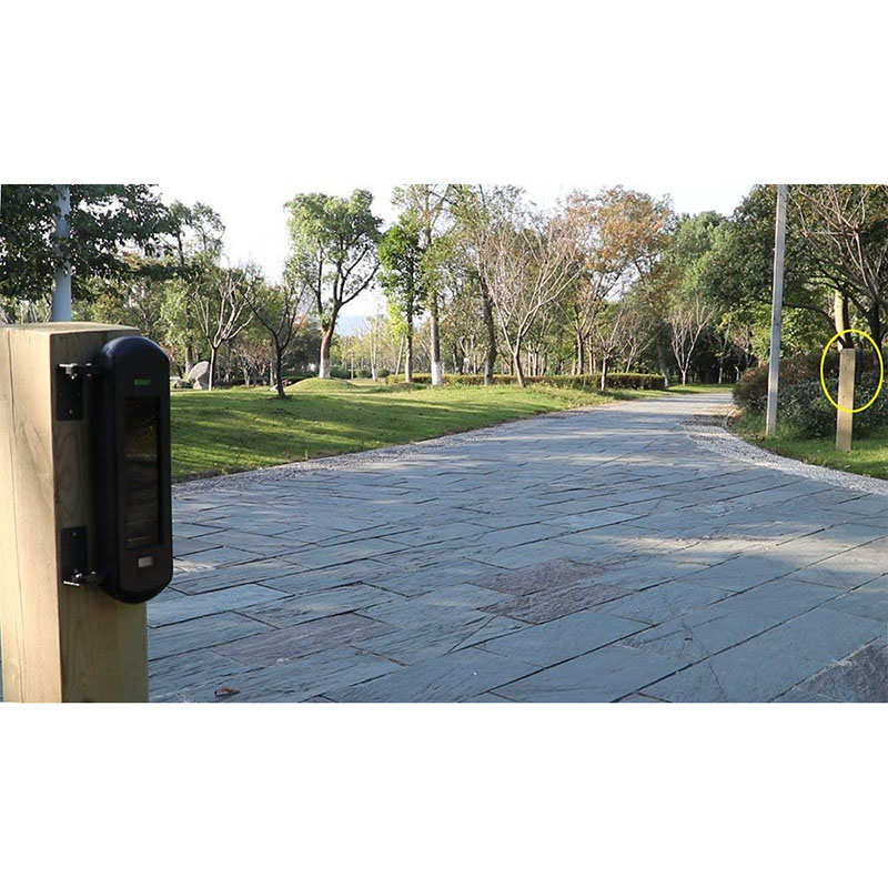 Solar Wireless Driveway Alarm System-1/2 Mile Long Transmission Range-300 Feet Wide Sensor Range-No Wiring Outdoor Weatherproof