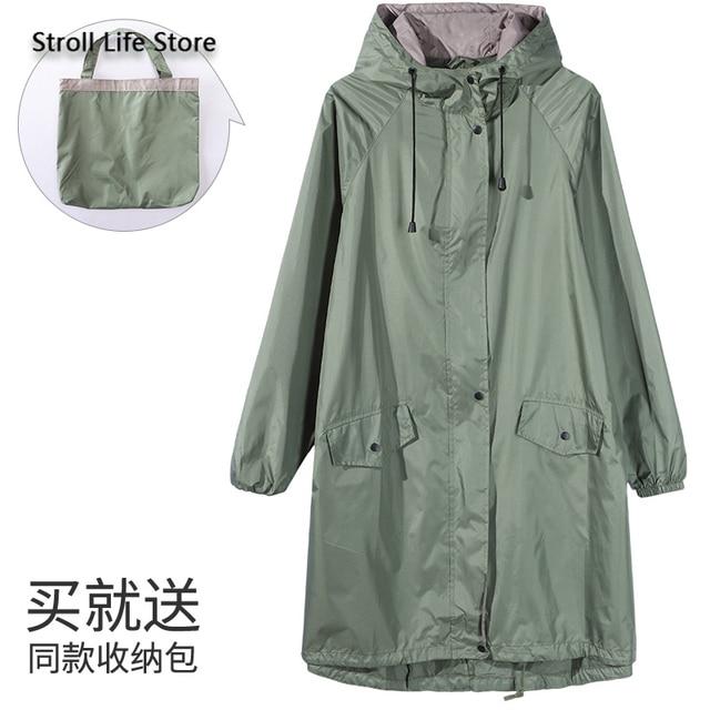 Japanese Windbreaker Riancoat Women Waterproof Jacket  Long Rain Coat Poncho Travel Hiking Rainwear Capa De Chuva Gift Ideas 4