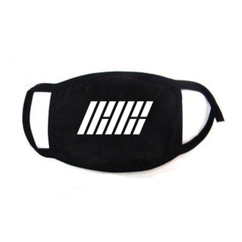 IKON New Album Love Scenario Dustproof Face Mask Outdoor Letter Printing Mask BOBBY Yunhyeong LXX35