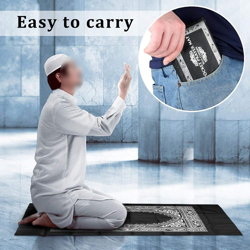 Image 5 - Portable Waterproof Muslim Prayer Mat Rug With Compass Vintage 